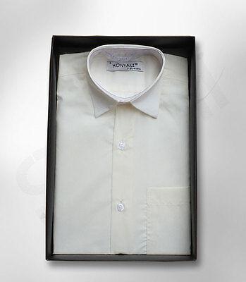 Pagina Ragazzi Avorio Classico Colletto della Camicia Ragazzi Formale Camicie WEDDING Prom Ragazzi Camicia