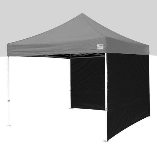 Instant Patio Gazebo EZ Pop Up Canopy Tent Shade 2 Pcs ZIPPER Side Walls Panels Black