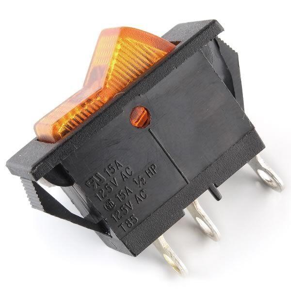 3 PK Rocker Switch SPST on off Toggle 15 Amp 250v 20 Amp 125v 2 Pin ...