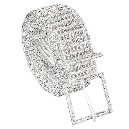 Ladies Fashion Novelty Waist Chain Charm Belt of 8 Row Diamante Diamond