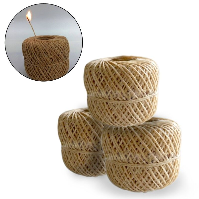 200 Feet Organic Hemp Wick Natural Beeswax Coating Candle Wick DIY Crafts 1mm TT 2