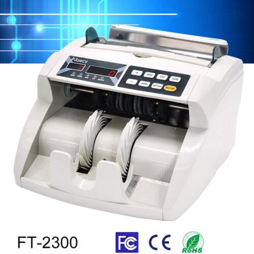Desktop Multi Currency Bill Money Cash Counter UV MG Counterfeit Detector N4V5