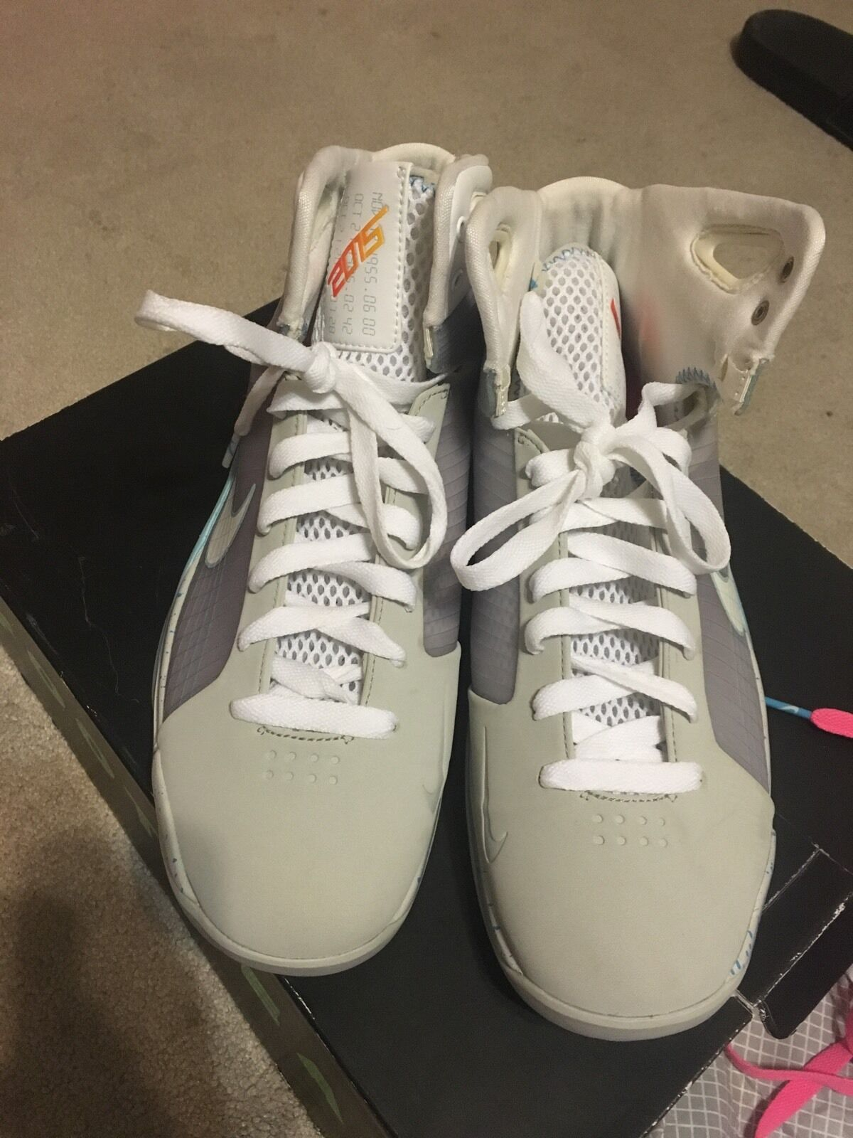 NIKE HYPERDUNK BTTF BACK TO THE FUTURE AIR MAG SIZE 12