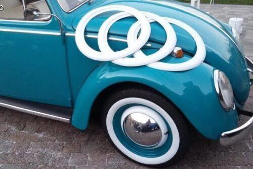 12/'/' Atlas Whitewall Portawall Topper Rubber Tire Ring Set of 4 Pcs