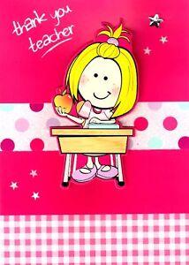 Girls-Thank-You-Teacher-Greeting-Card-Teachers-Apple-Teaching-Thankyou-Cards