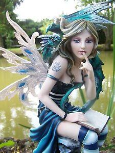 15312 Grande Statuette Figurine Fée Fée Elfe Dragon Héroïque Fantaisie Gm