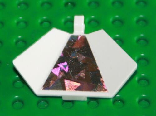Lego 4 x  Panel Flügel mit Clip 30034pb01 weiß Sticker Hologramm Nr.4805