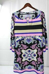 FOREVER-21-Polyester-Blend-Floral-Above-Knee-Shift-Dress-Size-Extra-Large