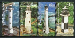 Sri-Lanka-2018-MNH-Lighthouses-Barberyn-Lighthouse-4v-Set-Architecture-Stamps