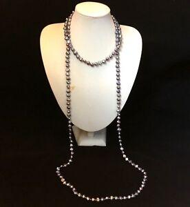 Annees Folles Sautoir Perles De Culture Veritables(gris ) Uayo7rsp-07224911-327317150