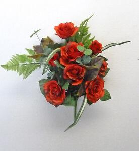 ... FIORI E PIANTE ARTIFICIALI Bouquet Di Rose Rosse