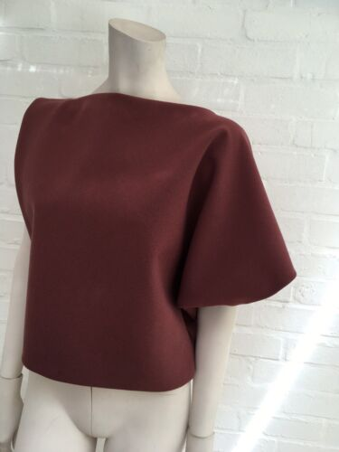 La Crepe Uk Small F Size Petite 4 Us Wool 8 36 Top S S Draped ZqrBZ1