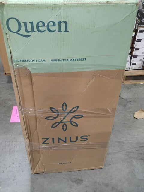 Zinus 12 Inch Gel-Infused Green Tea Memory Foam Mattress ...