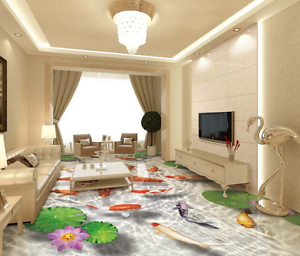 3D Starfish Lotus 854  Floor Wall Paper Murals Wall Print AJ WALLPAPER UK Lemon