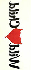 1 x sheet of WILD CHILD black/red ARMBAND TEMPORARY TATTOO 145mm X 70mm  AB0076