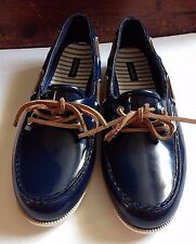 GH Bass Size 9M Blue Rubber Boat Shoes Deck Slip Ons Topsiders Women's