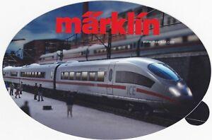 Expressif Märklin-autocollant Avec Figure: Ice Au Modelbahn-la Gare-ber Mit Abbildung: Ice Im Modelbahn-bahnhof Fr-fr Afficher Le Titre D'origine