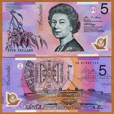 Australia, $5, 2007, Polymer, P-57e, QEII, UNC