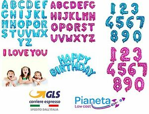 Palloncini-gonfiabili-FUCSI-CELEST-Lettera-alfabeto-Matrimonio-numero-Compleanno