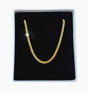 Source-18-inch-18ct-Gold-Cuban-Curb-Chain-Necklace-2mm-width