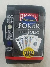 Bicycle Premium Poker Portfolio 2 Decks Of Playing Cards W Case 300 Chips For Sale Online