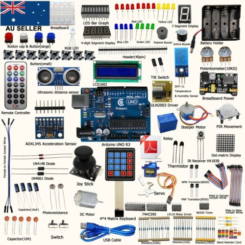 1 of 1 - Adeept UNO R3 Ultimate Starter Kit for Arduino UNO R3 LCD1602 Servo processing