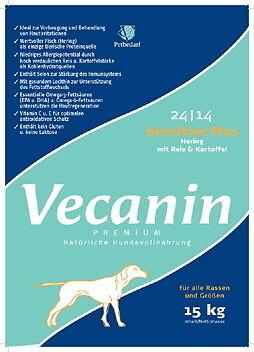 Vecanin Sensitiv plus Hering, Reis + Kartoffel 24 14 - 15 kg