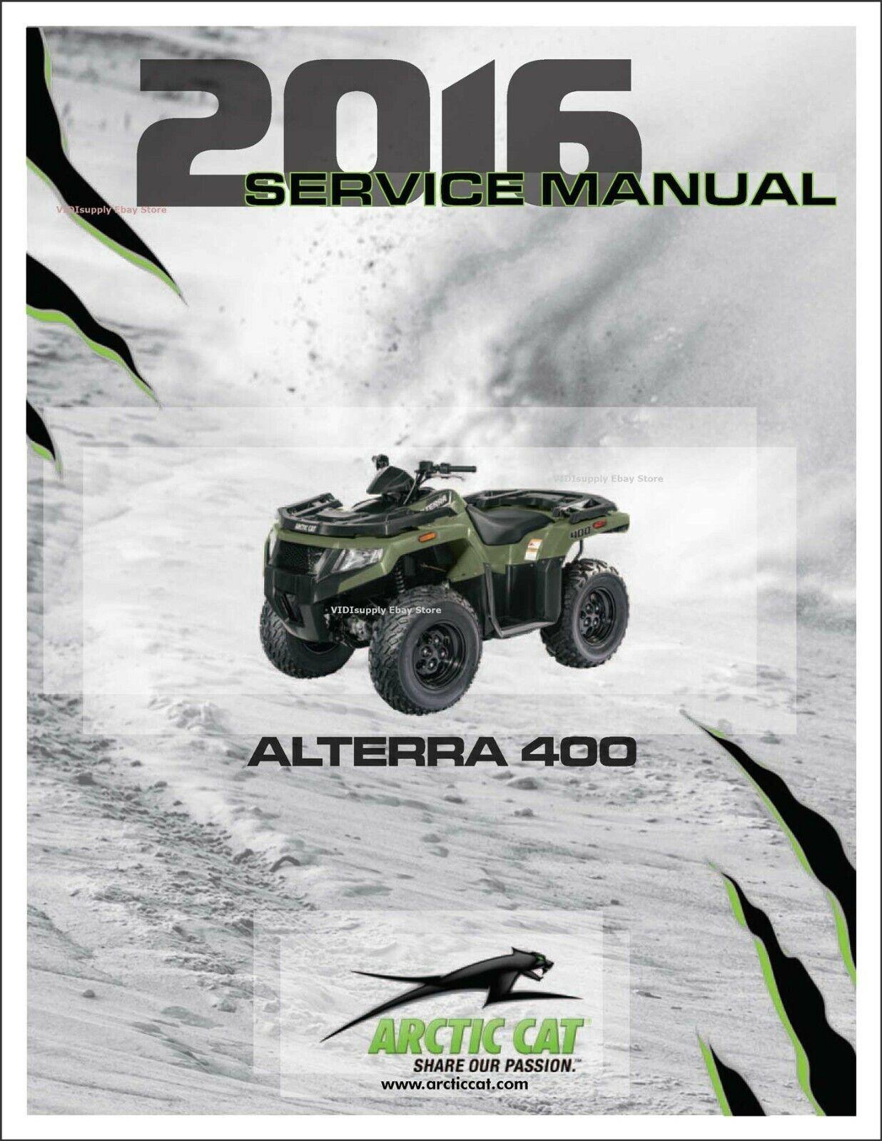 Printed Arctic Cat Alterra 400  New Atv 2016 Service