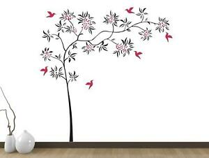 Outstanding Details About Tree Flowers Removable Wall Stickers Home Bedroom Decal Vinyl Decor Baby Room Download Free Architecture Designs Rallybritishbridgeorg