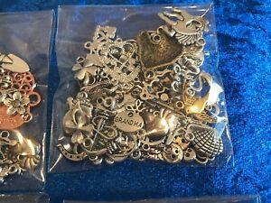50-MISTI-tibetani-in-lega-d-039-argento-charms-ciondoli-Perline-Distanziatori-scoperte