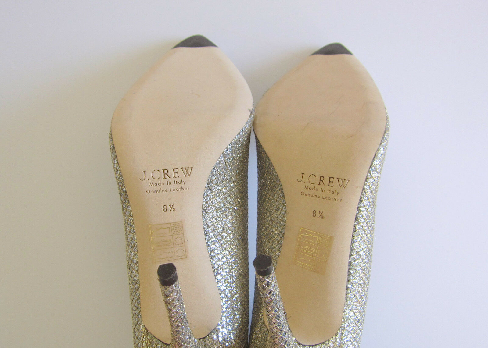 NEW J.Crew Roxie Roxie Roxie Glitter Pumps Size 8.5 gold Silver Item E0784  278 (SOLD OUT) 8f2fc0