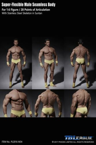 TBLeague 1//6 Steel Skeleton Male Muscular Seamless Figure Body ❶USA❶