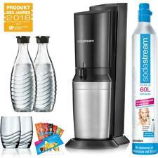 SodaStream Crystal 2.0 Wassersprudler Promo titan, 2 x Karaffe, 1 x CO²-Zylinder