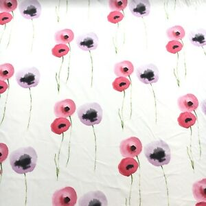 sanderson-Designer-fabric-curtain-Upholstery-material-034-POPPIES-9-99-m-Free-Post