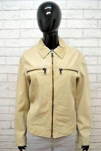 ARMANI-JEANS-Donna-Giacca-100-Pelle-Taglia-L-Jacket-Women-039-s-Leather-Giubbotto