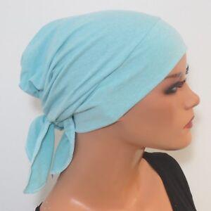 Kopftuch/mÜtze Turban Aqua Bequem Ideal Als ChemomÜtze Chemo Ausreichende Versorgung Hüte & Mützen Kleidung & Accessoires
