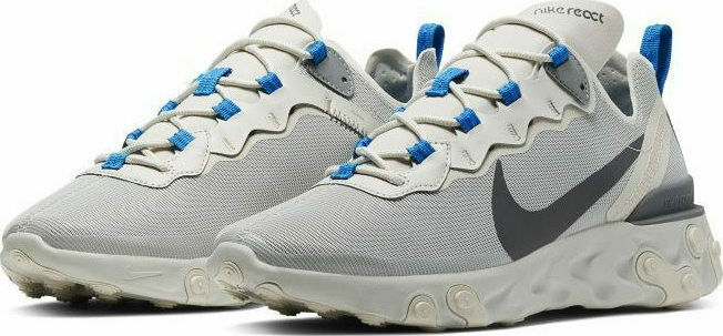 Mens Nike React Element 55 Gym Running cream Blau CQ4809 002 UK 9.5