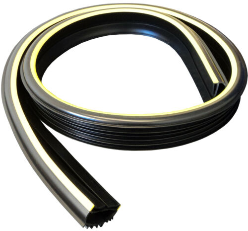 Weather Stop Roller Shutter Door Rubber Seal WS0014 Fits on to bottom T-bar