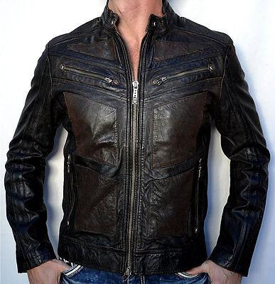Affliction Black Premium - LIVE FAST FIRE HORSE - Moto Leather Biker Jacket NEW
