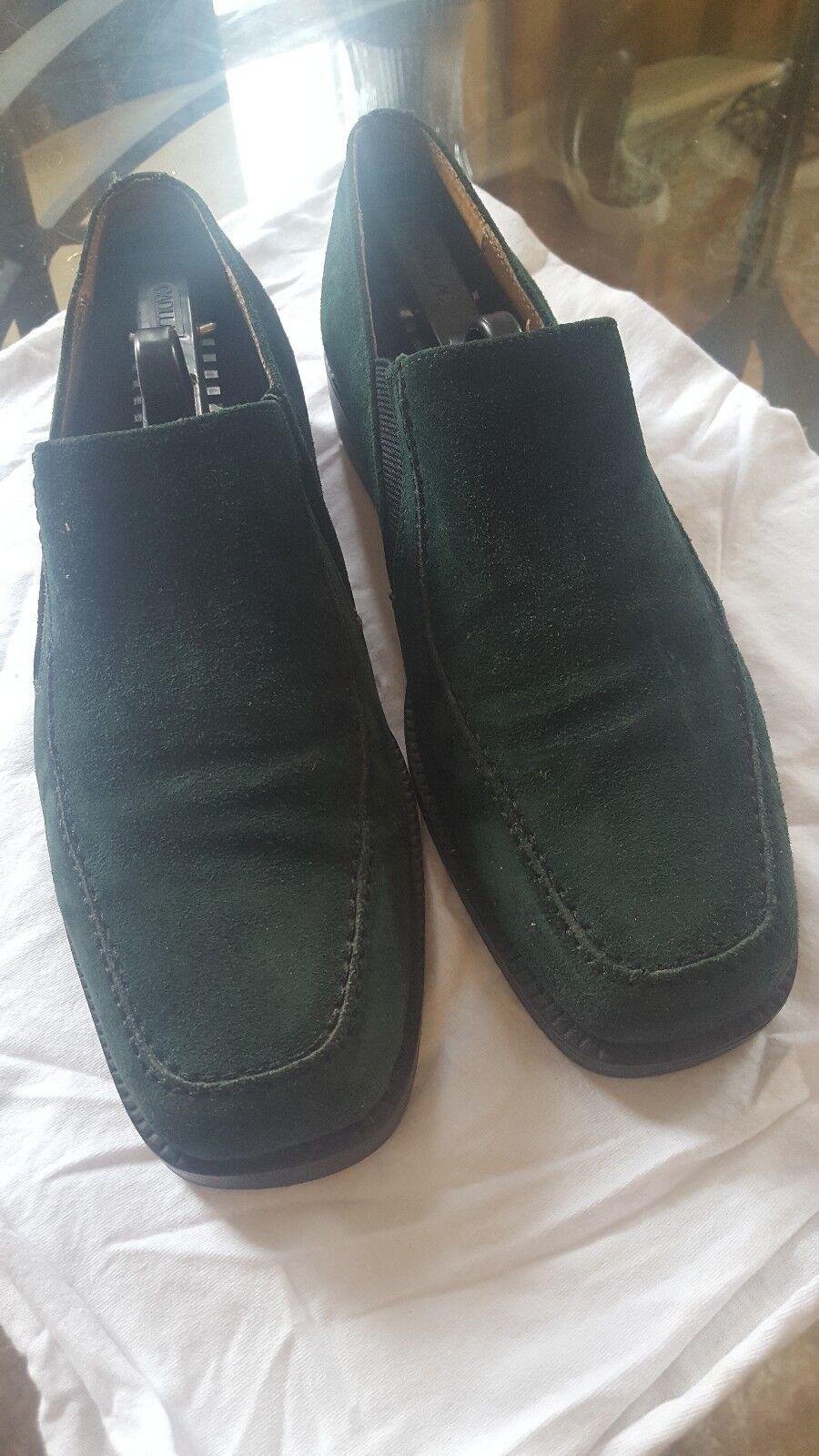 Marco Vicci Premium Mens Grün Slip on Loafers
