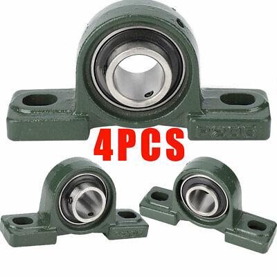"4pcs 1/"" inch Pillow Block Bearing UCP205-16 High Quality Solid Base"