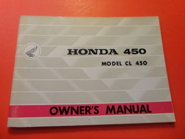 Original Oem Factory Owners Manual Honda 1967 Cl450