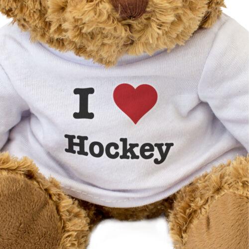 NEW I LOVE HOCKEY Teddy Bear Cute Cuddly Gift Present Birthday Xmas