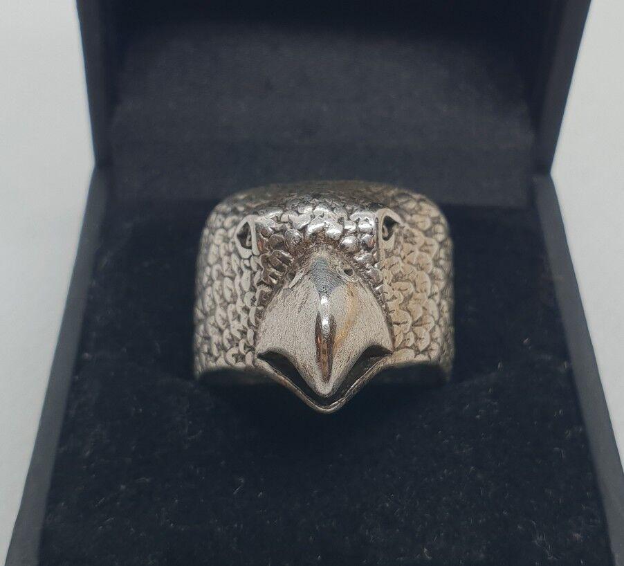 Bague chevalière pour homme motif aigle en silver massif size 57 RefM958