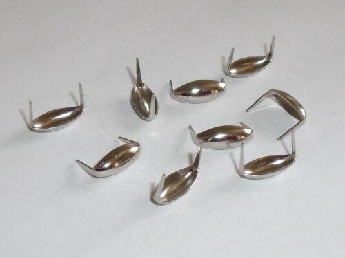 100 unidades remaches decorativos krallennieten tachuelas plata 7,5 mm mercancía nueva