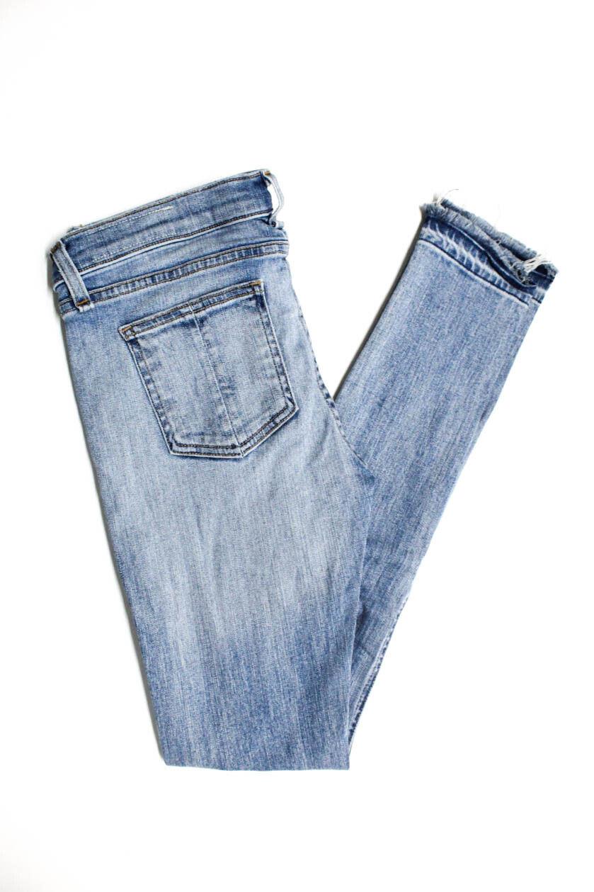 Rag & Bone Jean Femme Filiforme Taille Haute Effet Vieilli Jeans Clair Délavé Taille 27