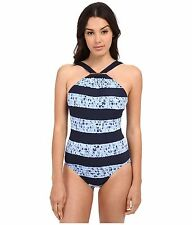 39b6c94be8d54 item 8 NWT Michael Kors Swimsuit 1 one piece Sz 4 High Neck Long Bar Crew  Blue -NWT Michael Kors Swimsuit 1 one piece Sz 4 High Neck Long Bar Crew  Blue