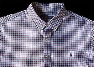 Men's RALPH LAUREN White Brown Blue Plaid Soft Shirt 4XLT 4LT 4XT TALL NWT NEW