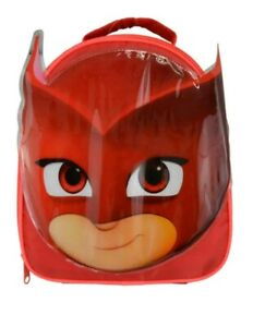 Pj Masks Owlette Face Shape Red Insulated Lunch Bag Box Bnwt Ebay