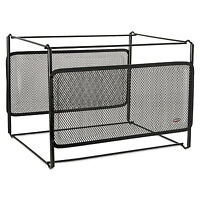 Rolodex Letter Size Mesh File Frame Holder Wire 12 3/8 X 11 3/8 X 9 5/8 Black on sale